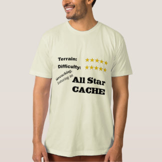 """Geocaching   Featuring an all star cache"" T Shirt"