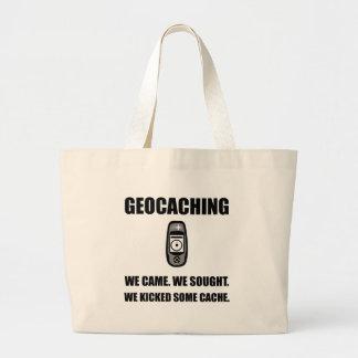 Geocaching Kicked Cache Jumbo Tote Bag