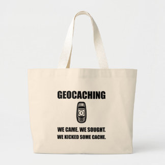 Geocaching Kicked Cache Large Tote Bag