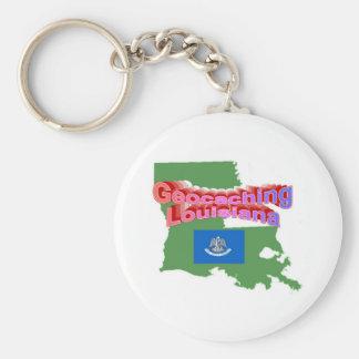 Geocaching Louisiana Keychain