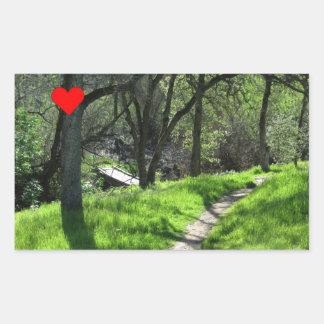 Geocaching path rectangular sticker