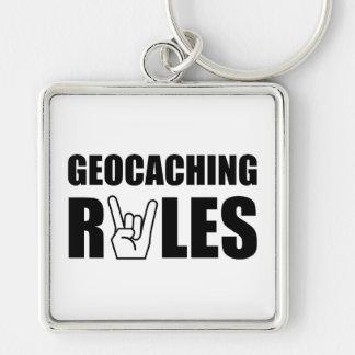 Geocaching Rules Key Ring
