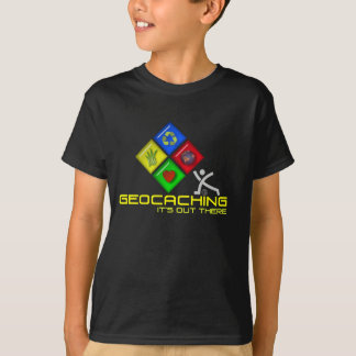 Geocaching Stickman Geocacher T Shirt for Kids