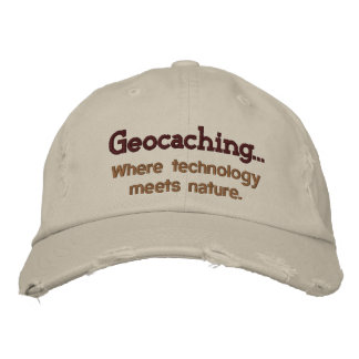 Geocaching Tech+Nature Embroidered Hat