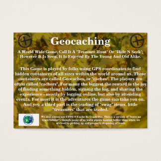 Geocaching Trail Card - By: WV Little Eagle
