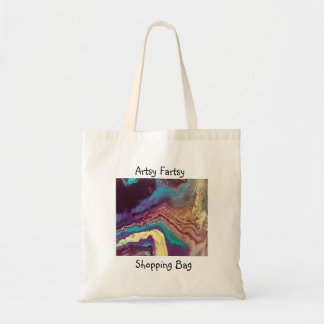 Geode Acrylic Pour Shopping Bag with saying