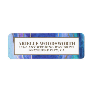 Geode Agate Gemstone Wedding Address Labels
