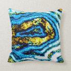 Geode Blue & Gold Pillow