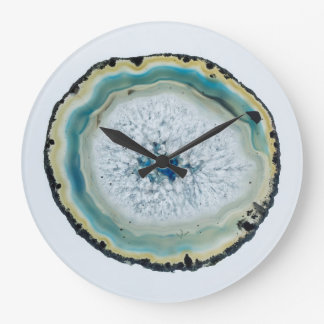 Geode Slice Large Clock