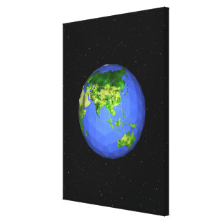 Geodesic Globe in Space Canvas Print