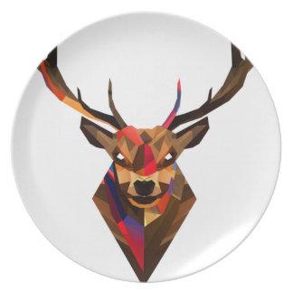 Geoetric Dear Dinner Plate