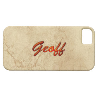 GEOFF Name Branded  iPhone 5 Case