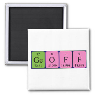 Geoff periodic table name magnet
