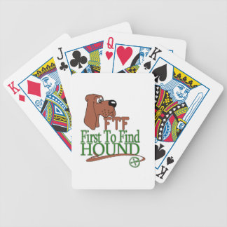 GEOGACHING FTF HOUND BICYCLE PLAYING CARDS