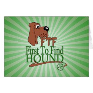 GEOGACHING FTF HOUND CARD