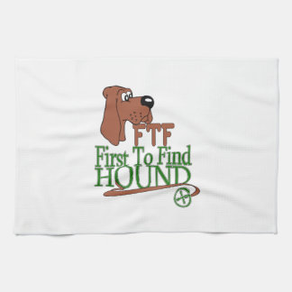 GEOGACHING FTF HOUND KITCHEN TOWEL