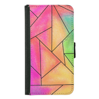 Geograhpic Wallet Case For Samsung S5 Phones
