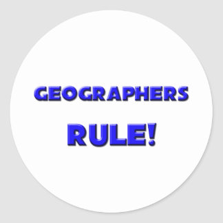Geographers Rule! Round Sticker