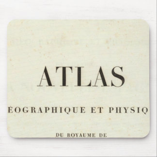 Geographical and Physical Half Title Atlas Mouse Pad