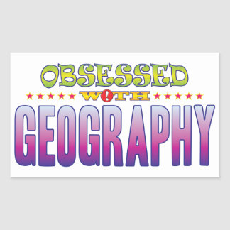 Geography 2 Obsessed Rectangular Sticker