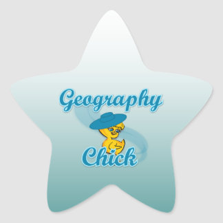Geography Chick #3 Star Sticker