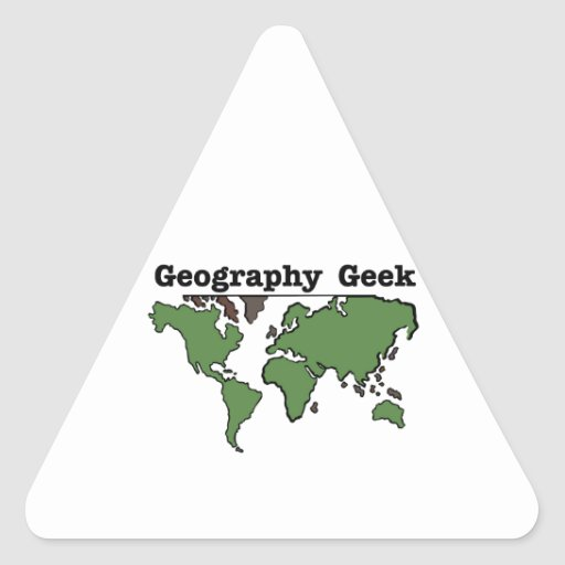 Geography Geek Triangle Stickers