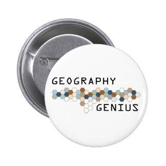 Geography Genius 6 Cm Round Badge