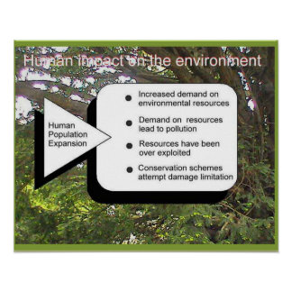 Geography, Human demands on the environment Poster