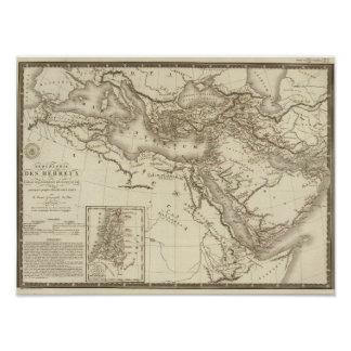 Geography of Hebrews Poster