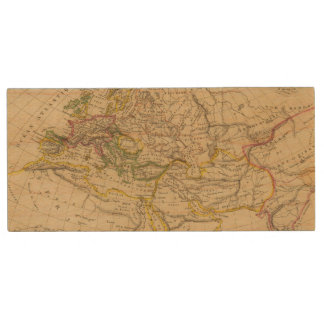 Geography of the Middle Ages Wood USB 2.0 Flash Drive