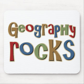 Geography Rocks Mouse Pad