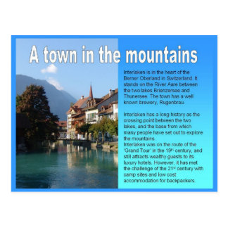 Geography, RSettlements, Town in the mountains Postcard