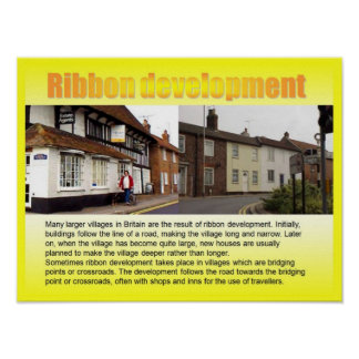 Geography, Social studies, Ribbon development Poster