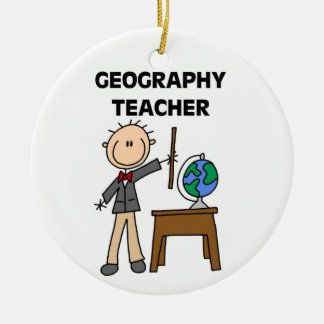 Geography Teacher Ceramic Ornament