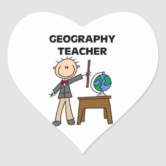 Geography Teacher Heart Sticker
