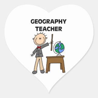 Geography Teacher Heart Sticker