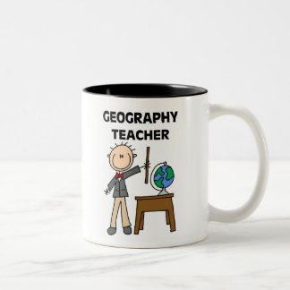 Geography Teacher Two-Tone Coffee Mug