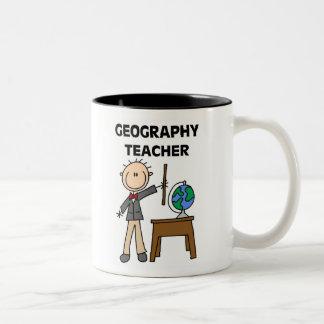 Geography Teacher Two-Tone Mug