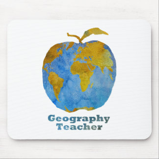 Geography Teacher's Apple Mouse Pad