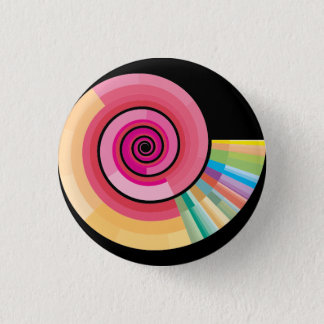 Geologic timescale spiral 3 cm round badge