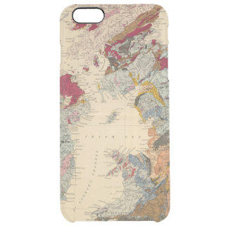 Geological map, British Isles Clear iPhone 6 Plus Case