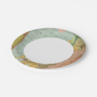 Geological Map of New Hampshire 2 7 Inch Paper Plate