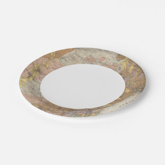 Geological Map of New Hampshire 4 7 Inch Paper Plate