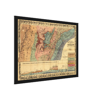 Geological Map of Tennessee (1866) Canvas Prints