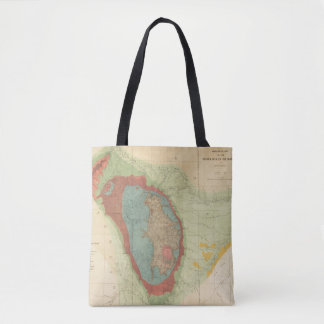 Geological map of the Black Hills of Dakota Tote Bag