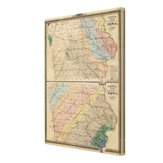 Geological map of the State of Iowa Stretched Canvas Print