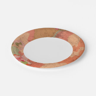 Geological Map of the Washoe District 7 Inch Paper Plate