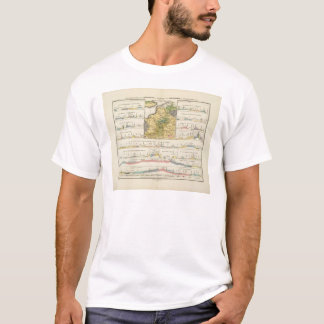 Geological profiles of Germany in general T-Shirt