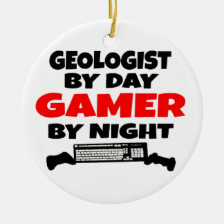 Geologist Gamer Ceramic Ornament
