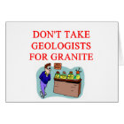 geologist joke card